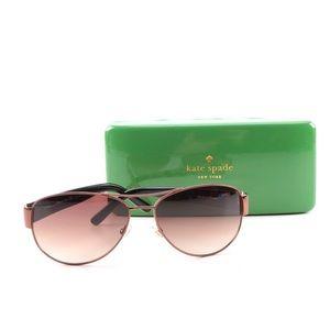 Kate Spade NY Aviator Style Sunglasses & Case
